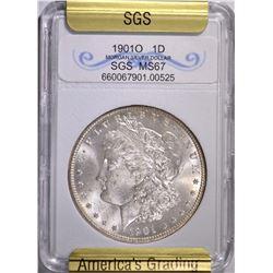 1901-O MORGAN DOLLAR SGS GRADED