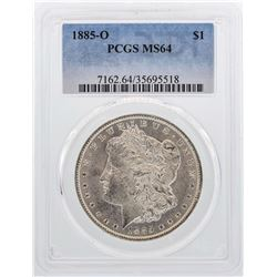 1885-O $1 Morgan Silver Dollar Coin PCGS MS64