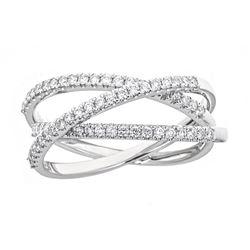 0.48 ctw Diamond Ring - 18KT White Gold