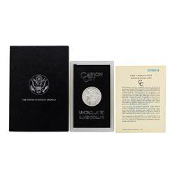 1885-CC $1 Morgan Silver Dollar Coin GSA Uncirculated w/ Box & COA