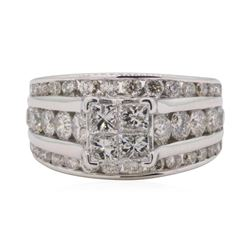 0.65 ctw Diamond Wedding Ring - 14KT White Gold
