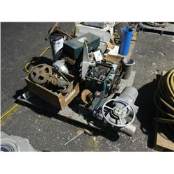 LOT OF ASSORTED, LIFT AND MOTOR PARTS
