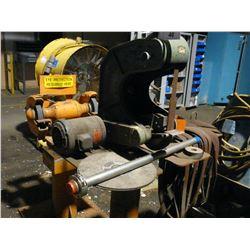 BURR-KING MODEL 760 ELECTRIC VERTICAL BELT SANDER, WITH EXTRA BELTS