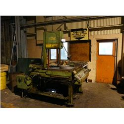 DOALL MODEL TF-1421H VERTICAL TILTING HYDRAULIC METAL BAND SAW WITH APPROX. 20' OF ROLLER FEEDS, COM