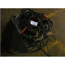 PALLET OF ASSORTED WELDING STINGERS AND CABLES