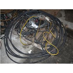 LOT OF ELECTRICAL AND EXTENSION CORDS