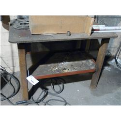 APPROX. 3' X 5' STEEL WORK BENCH