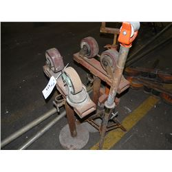 LOT OF ASSORTED PIPE STANDS AND MORE