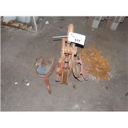 LOT OF 3 LARGE PLATE LIFTING CLAMPS