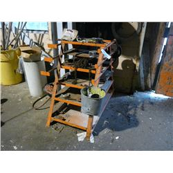 4' METAL RACK WITH CONTENTS