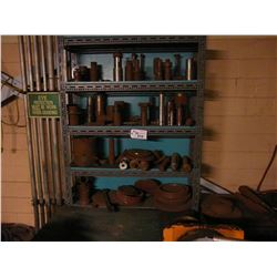 METAL RACK AND CONTENTS INC. HEAVY DUTY TOOLING, PARTS, METAL AND MORE, AND CONTENTS OF BLUE CABINET