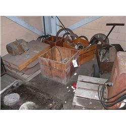 LOT OF METAL TOOLING, PARTS AND MORE, IN CORNER AREA
