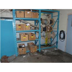CONTENTS OF HEAVY DUTY BLUE RACK INC. WIRING, ELECTRICAL COMPONENTS, COUPLINGS, HARDWARE AND MORE