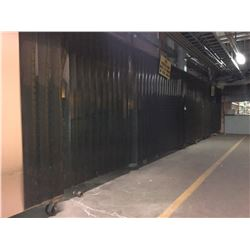 APPROX. 40' OF BOLT-ON WELDING SCREENS/DRAPES