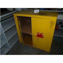 APPROX. 4' X 4' FLAMMABLE STORAGE CABINET