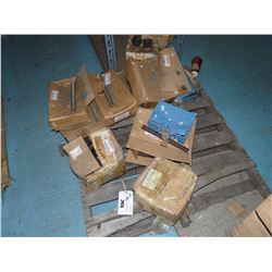 LOT OF ASSORTED BOLTS, THREADED COUPLERS AND MORE