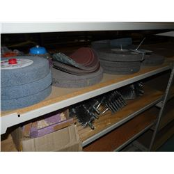 CONTENTS OF RACKING BAY INC. GRINDING WHEELS, PIPE CLEANERS AND MORE