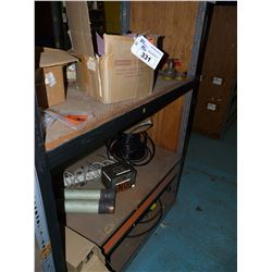 CONTENTS OF BAY OF RACKING INC. ELECTRICAL, HEAVY DUTY FUSES, GAUGES AND MORE