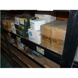CONTENTS OF 2 BAYS OF RACKING INC. ELECTRICAL COMPONENTS, SWITCHES AND MORE