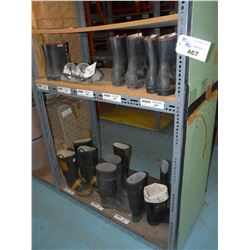 CONTENTS OF BAY OF RACKING INC. STEEL TOED RUBBER BOOTS