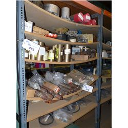 CONTENTS OF BAY OF RACKING INC. HEAVY DUTY ELECTRICAL COMPONENTS, BRONZE, STEEL AND OTHER METAL PEGS