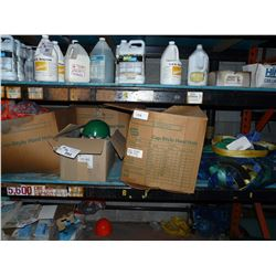 SHELF LOT OF SAFETY EQUIPMENT INC. STRAPS, HARD HATS AND MORE