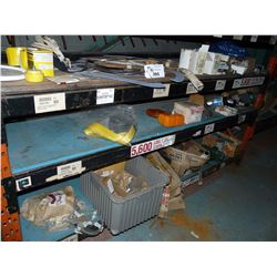 CONTENTS OF BOTTOM 2 SHELVES INC. HEAVY DUTY HARDWARE, MOTOR PARTS AND MORE