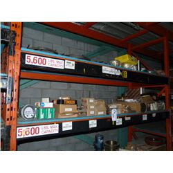 CONTENTS OF TOP 2 SHELVES INC. HEAVY DUTY GEARS, PULLEYS, CHAINS AND MORE