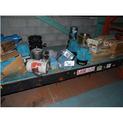 CONTENTS OF BOTTOM INC. ASSORTMENT OF MOTORS, PUMPS, PARTS AND MORE