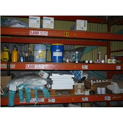 CONTENTS OF TOP 3 SHELVES INC. FILTERS, SAFETY SUITS, OXYGEN BOTTLES AND MORE