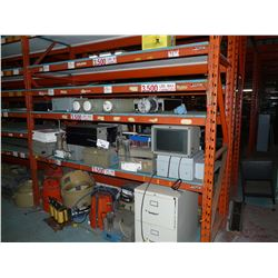 CONTENTS OF 2 BAYS OF RACKING INC. LARGE ELECTRICAL COMPONENTS AND MORE