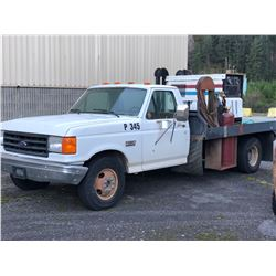 FORD F-350 CUSTOM WELDING TRUCK, CONVERTED TO PROPANE, 7.5 LITRE V8, WITH MILLER BIG BLUE 400D WELDE