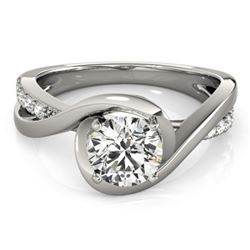 0.65 CTW Certified VS/SI Diamond Solitaire Ring 18K White Gold - REF-133X3T - 27450