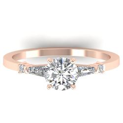 1.04 CTW Certified VS/SI Diamond Solitaire Ring 14K Rose Gold - REF-179A6X - 30391