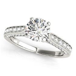 1.35 CTW Certified VS/SI Diamond Solitaire Ring 18K White Gold - REF-225K8W - 27522