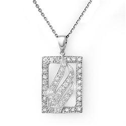 0.45 CTW Certified VS/SI Diamond Necklace 18K White Gold - REF-57K5W - 10862