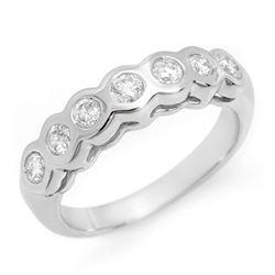 0.50 CTW Certified VS/SI Diamond Ring 14K White Gold - REF-60X2T - 11608