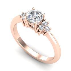 0.75 CTW VS/SI Diamond Ring 18K Rose Gold - REF-131N3Y - 36933