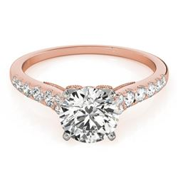 0.65 CTW Certified VS/SI Diamond Solitaire Ring 18K Rose Gold - REF-76N5Y - 27490