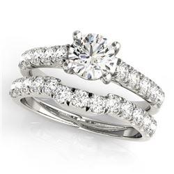 2.52 CTW Certified VS/SI Diamond 2Pc Set Solitaire Wedding 14K White Gold - REF-567H2A - 32093