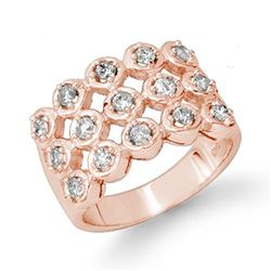1.0 CTW Certified VS/SI Diamond Ring 14K Rose Gold - REF-99Y3K - 14046