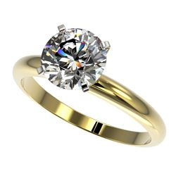 2.03 CTW Certified H-SI/I Quality Diamond Solitaire Engagement Ring 10K Yellow Gold - REF-615W2F - 3