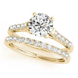 1.02 CTW Certified VS/SI Diamond Solitaire 2Pc Wedding Set 14K Yellow Gold - REF-134T5M - 31690
