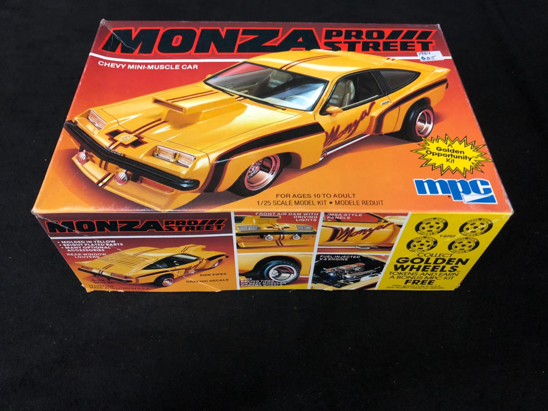MPC 1:25 SCALE MONZA PRO STREET CHEVY MINI MUSCLE CAR UMASSEMBLED ...