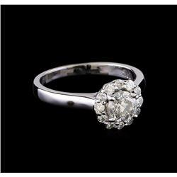 0.99 ctw Diamond Ring - 14KT White Gold