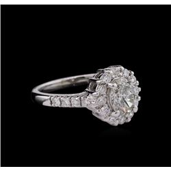 1.86 ctw Diamond Ring - 14KT White Gold