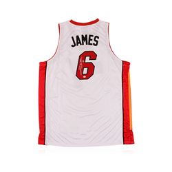 Miami Heat LeBron James Autographed Jersey