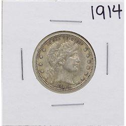 1914 Barber Head Quarter Coin