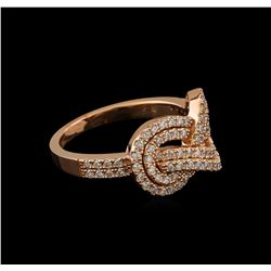 0.52 ctw Diamond Ring - 14KT Rose Gold