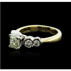 14KT Two-Tone Gold 1.15 ctw Diamond Ring